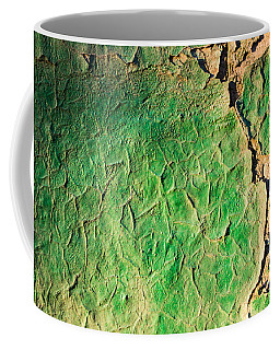 Green Flaking Brickwork Coffee Mug