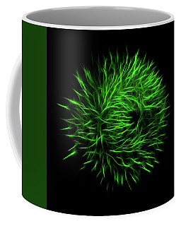 Green Flower Burst Coffee Mug