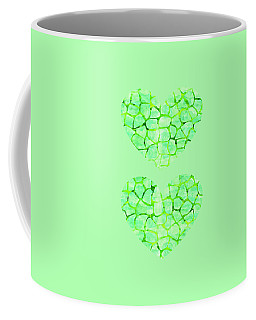Green Giraffe Print Coffee Mug