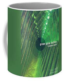 Coffee Mug featuring the photograph Green Glass Bottles by Phil Perkins