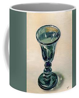 Green Glass Goblet Coffee Mug