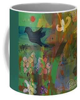 Coffee Mug featuring the painting Green Glory  by Robin Maria Pedrero