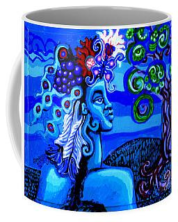 Green Goddess With Tree Coffee Mug