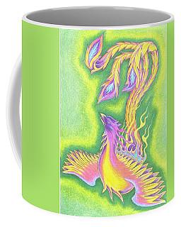 Green Gold Phoenix Coffee Mug