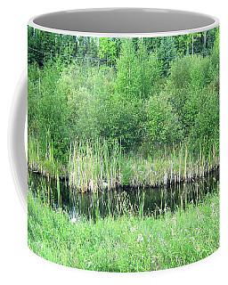 Green Grass Black Water Coffee Mug