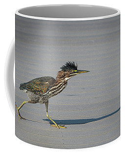 Coffee Mug featuring the photograph Green Heron On A Mission by Cindy Lark Hartman