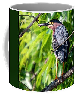 Coffee Mug featuring the photograph Green Heron by Sumoflam Photography