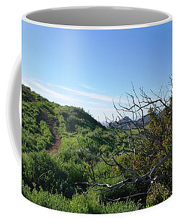 Coffee Mug featuring the photograph Green Hills And Bushes Landscape by Matt Harang