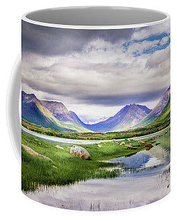 Coffee Mug featuring the photograph Green Hills Of Vesteralen by Dmytro Korol