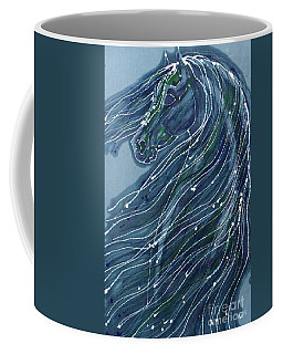 Green Horse With Flying Mane Coffee Mug