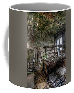 Coffee Mug featuring the digital art Green Lab by Nathan Wright