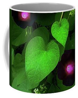 Green Leaf Violet Glow Coffee Mug