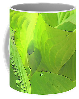 Green Leaves Sketch 2 Coffee Mug