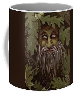 Green Man Painting Coffee Mug