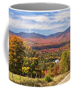 Green Mountains Autumn View Coffee Mug by Alan L Graham