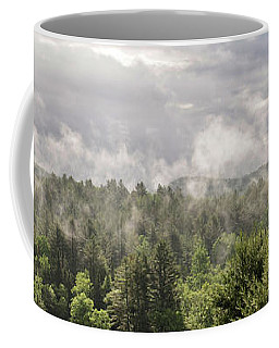 Green Mountains Fog Panoramic Coffee Mug