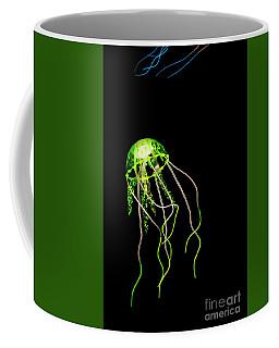 Green Neon Jellyfish Coffee Mug