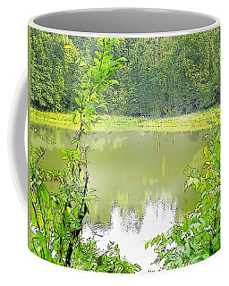 Green On Lake Coffee Mug by Craig Walters