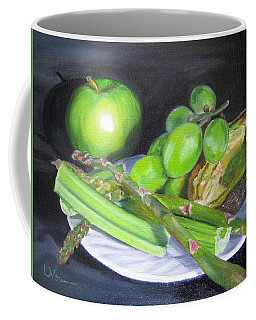 Green On White Coffee Mug