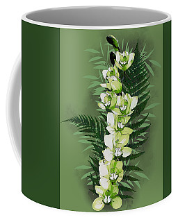Green Orchid Coffee Mug