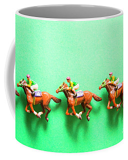 Green Paper Racecourse Coffee Mug