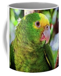 Green Parrot Coffee Mug