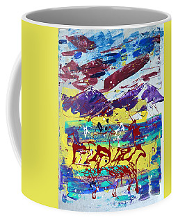 Green Pastures And Purple Mountains Coffee Mug by J R Seymour