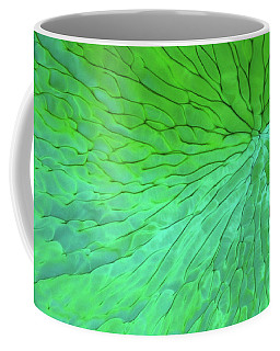 Green Pattern Under The Microscope Coffee Mug
