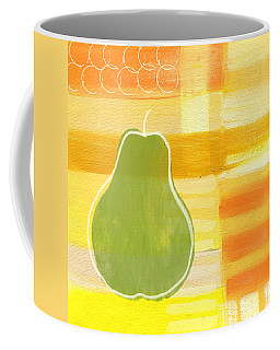 Coffee Mug featuring the painting Green Pear- Art By Linda Woods by Linda Woods