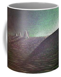 Coffee Mug featuring the drawing Green Pyramid B by Mayhem Mediums