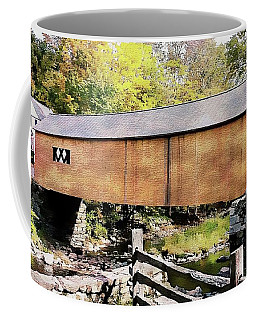 Coffee Mug featuring the photograph Green River Covered Bridge - Vermont by Joseph Hendrix