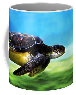 Green Sea Turtle 2 Coffee Mug by Marilyn Hunt