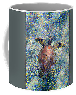 Green Sea Turtle From Above Coffee Mug