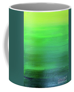 Coffee Mug featuring the painting Green by Sean Brushingham
