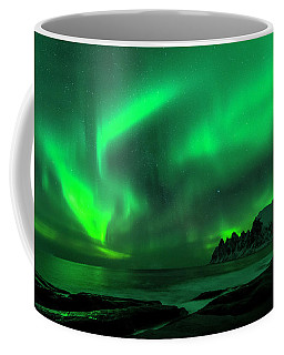 Green Skies At Night Coffee Mug