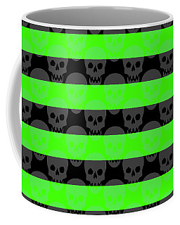 Green Skull Stripes Coffee Mug
