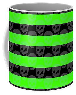 Green Skull Stripes Coffee Mug