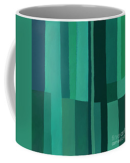 Green Stripes 1 Coffee Mug