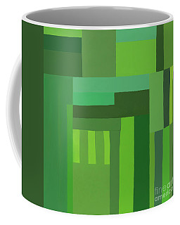 Green Stripes 3 Coffee Mug