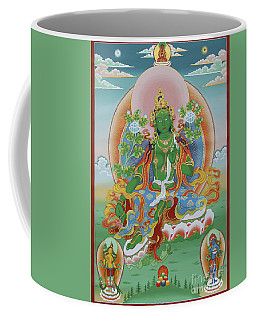 Green Tara With Retinue Coffee Mug