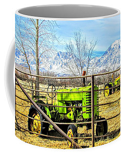 Green Tractor Coffee Mug