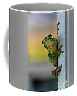 Green Tree Frog  It's Not Easy Being Green Coffee Mug