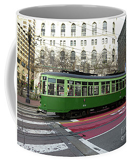 Coffee Mug featuring the photograph Green Trolley by Steven Spak
