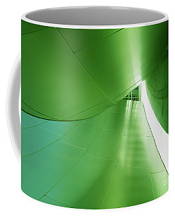 Coffee Mug featuring the photograph Green Tunnel. Los Angeles Series. by Ausra Huntington nee Paulauskaite