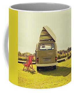 Green Vw T2 Camper Van Rear View Coffee Mug