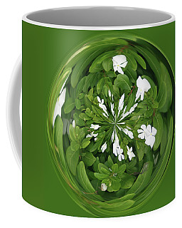 Coffee Mug featuring the photograph Green-white Orb by Bill Barber