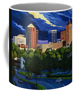 Greensboro Skyline In The Sunshine Coffee Mug