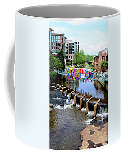 Coffee Mug featuring the photograph Greenville River Walk by Corinne Rhode