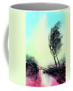 Coffee Mug featuring the painting Greeting 1 by Anil Nene