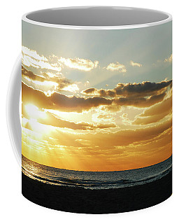 Greeting The Sunrise Coffee Mug by James Kirkikis